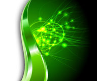 Green background - energy flares Stock Photography
