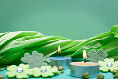 Green background for festive occasions Stock Photo