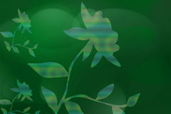 Green Background With Flora. Or flower design Royalty Free Illustration