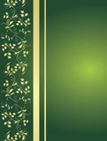 Green background with floral ornaments Royalty Free Stock Image