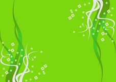 Green background with flowers. Abstract spring green background/template/card with flowers Royalty Free Stock Photography