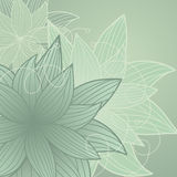Green background with flowers Stock Image