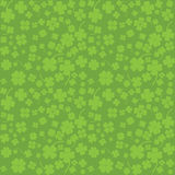Green background with four leaf clovers, St. Patri Royalty Free Stock Photo