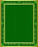 Green background frame gold(en) pattern Stock Image