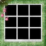 Green background with frames Royalty Free Stock Photography