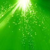 Green background. Fresh green background with some blurred lights on it Royalty Free Stock Image