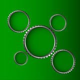 Green background and gear wheel. Hole Royalty Free Stock Photography