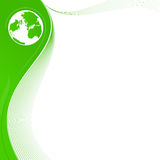 Green background with globe Stock Images