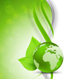Green background with globe Royalty Free Stock Photo