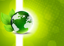 Green background with globe Stock Photos