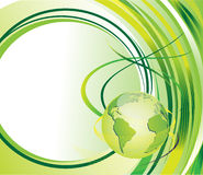 Green background with globe Royalty Free Stock Image
