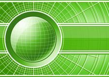 Green background with globe Royalty Free Stock Images