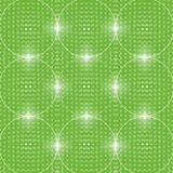 Green background of glowing balls. Stock Photography