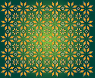 Green background of golden Christmas Star Royalty Free Stock Image