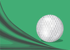Green background with a golf ball. And abstract shadow Stock Images