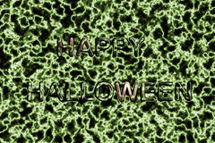 Green background happy halloween Royalty Free Stock Image