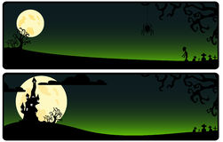 Green background on Helloween Stock Images