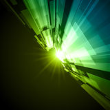 Green background with light. A green background with bright light shining through Royalty Free Stock Photography