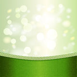 Green background with light effects. Stock Photos