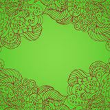 Green background with light patterns Stock Photos