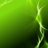 Green background with lights and lines Stock Image