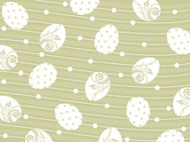 Green background with many egg Royalty Free Stock Images