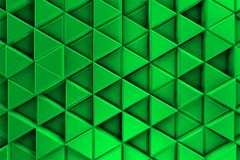 Green background with metalic triangles and shadows Royalty Free Stock Photos