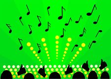 Green background music Stock Photo