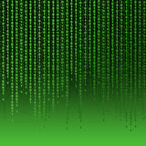 Green background of ones and zeros Royalty Free Stock Photo