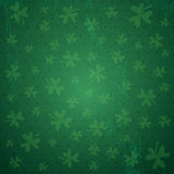 Green background for Patricks day with shamrocks, vector Royalty Free Stock Images