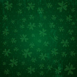 Green background for Patricks day with shamrocks, vector Stock Image