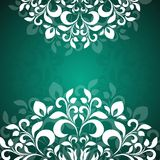 Green background pattern of the petals Royalty Free Stock Photos