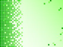 Green background with pixels Royalty Free Stock Photos