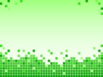 Green background with pixels