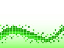 Green background with pixels Royalty Free Stock Image