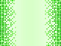 Green background with pixels Stock Photo