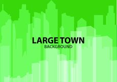 Green Background for poster large town or design template. Multi vector illustration