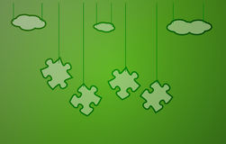 Green background with puzzle Royalty Free Stock Photo