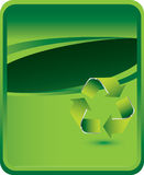Green background with recycle symbol Royalty Free Stock Images