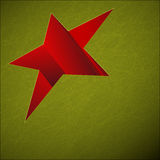 Green Background with Red Star Stock Image