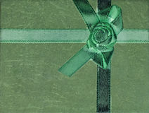 Green background with a ribbon Royalty Free Stock Photos