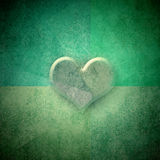 Green background romantic card,copy space Royalty Free Stock Images