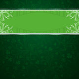 Green background with shamrock Royalty Free Stock Images