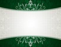 Green background with shamrock Stock Photo