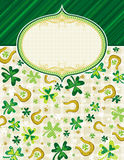 Green background with shamrock Royalty Free Stock Photography