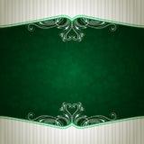 Green background with shamrock Stock Photos