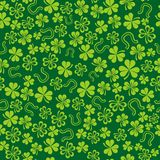Green background with shamrock Stock Photos