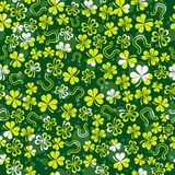Green background with shamrock Royalty Free Stock Image