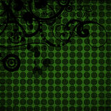 Green background with shapes Royalty Free Stock Photography
