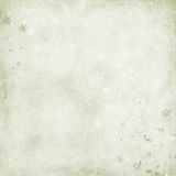 Green background with snowflakes Royalty Free Stock Photography